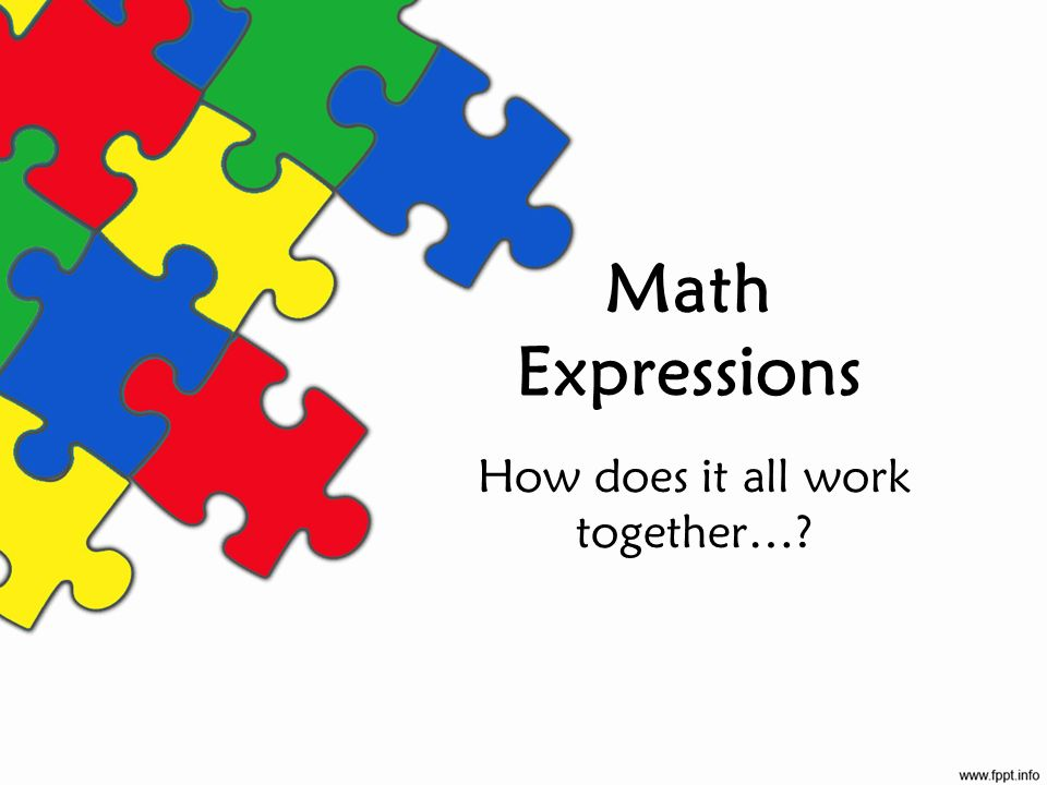 Math Expressions How does it all work together…