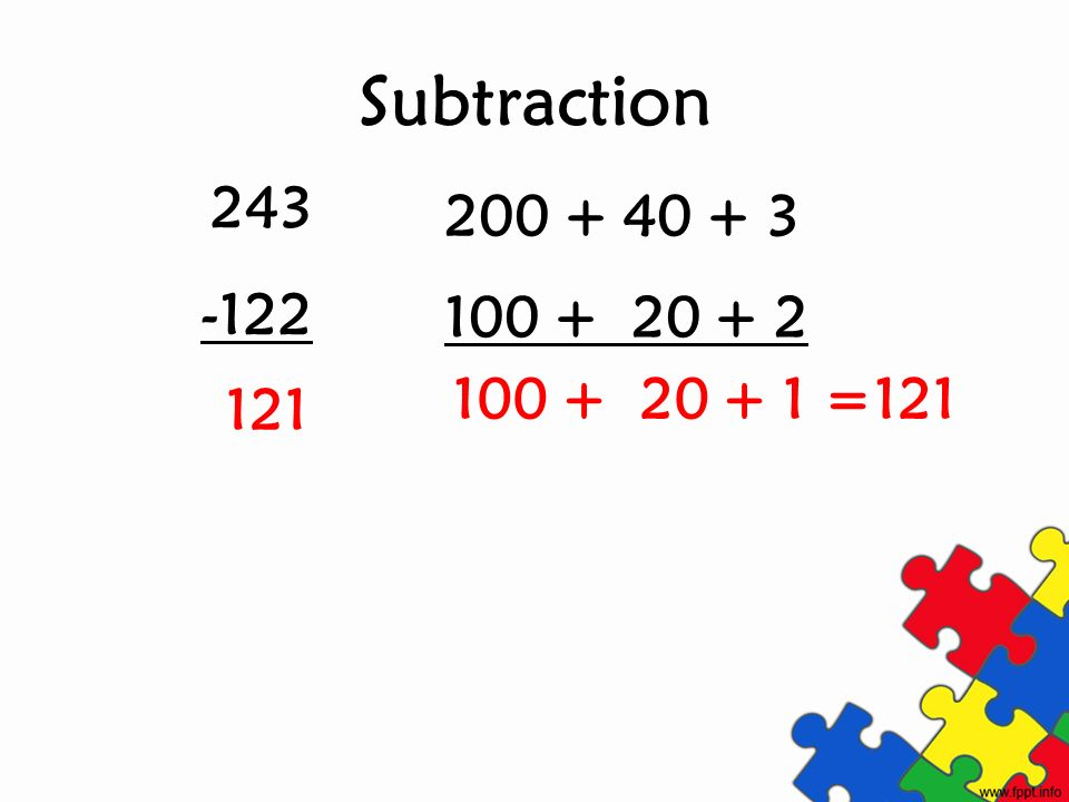 Subtraction =