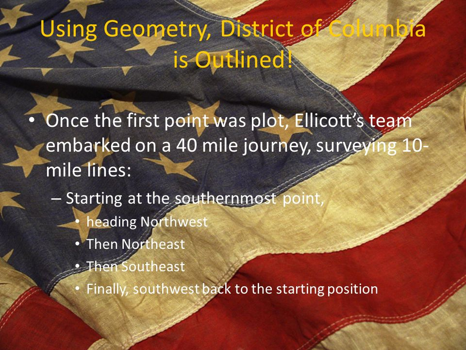 Using Geometry, District of Columbia is Outlined.
