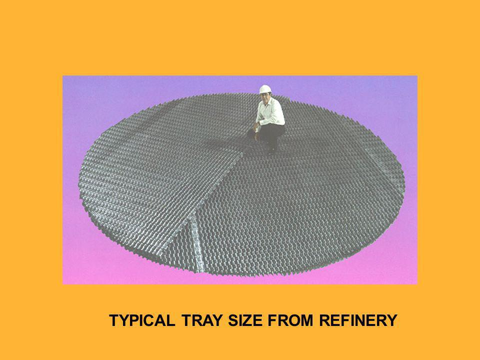 TYPICAL TRAY SIZE FROM REFINERY