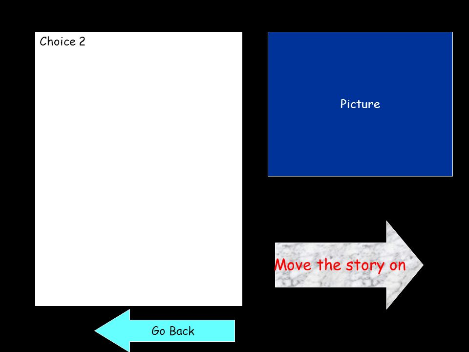 Choice 2 Picture Move the story on Go Back