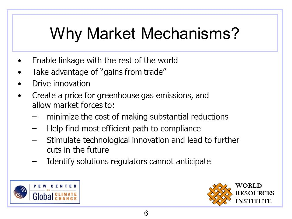 Why Market Mechanisms.
