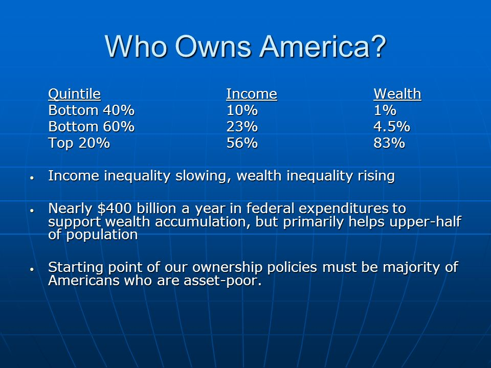 Who Owns America.