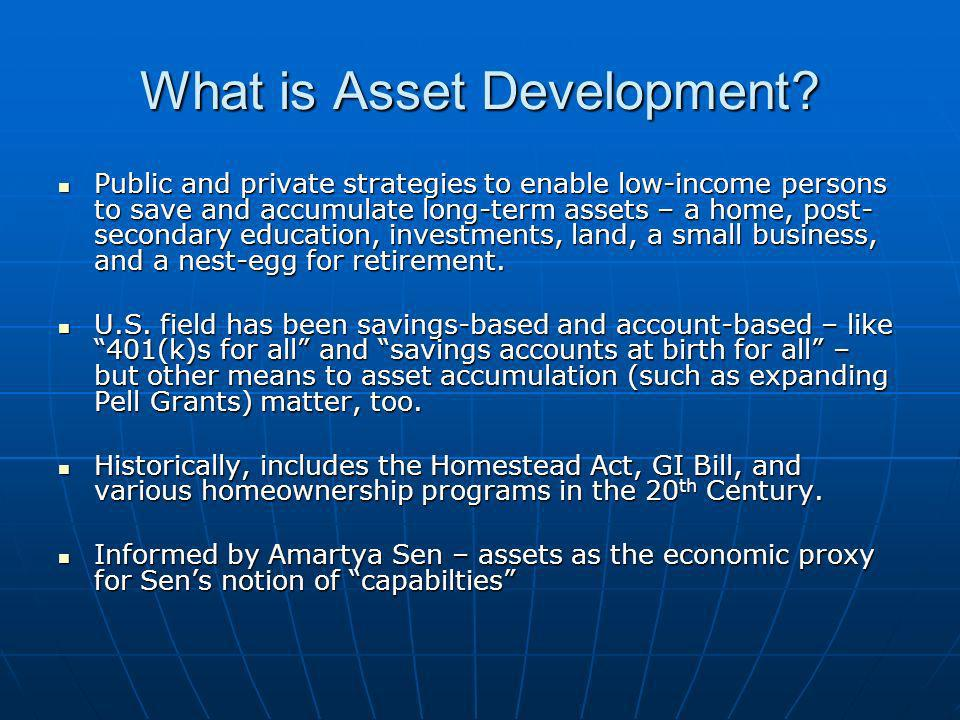 What is Asset Development.