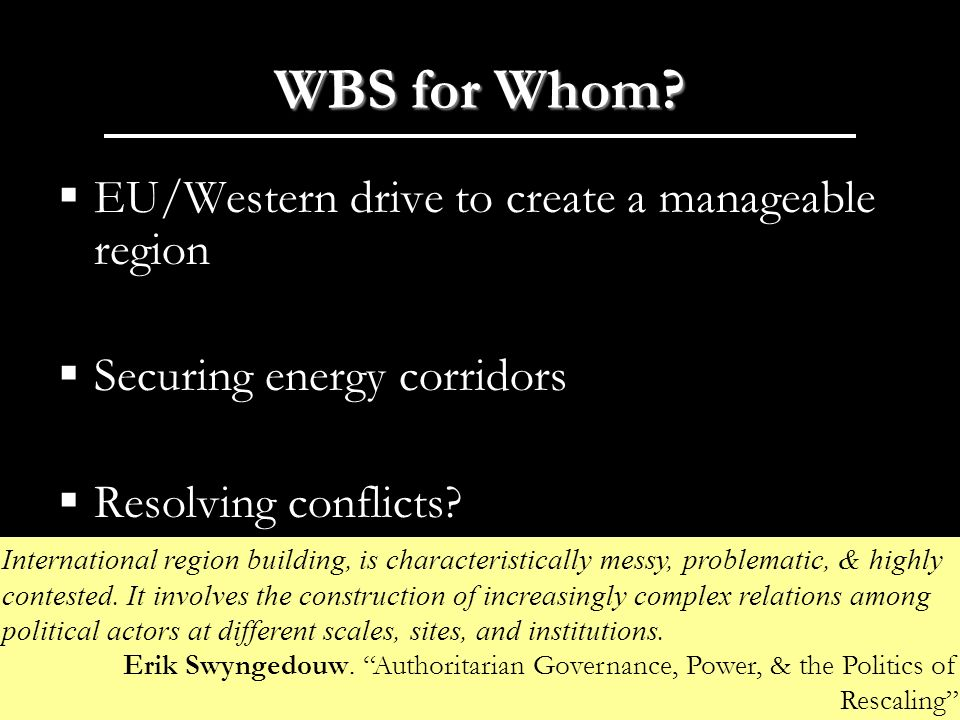 WBS for Whom.