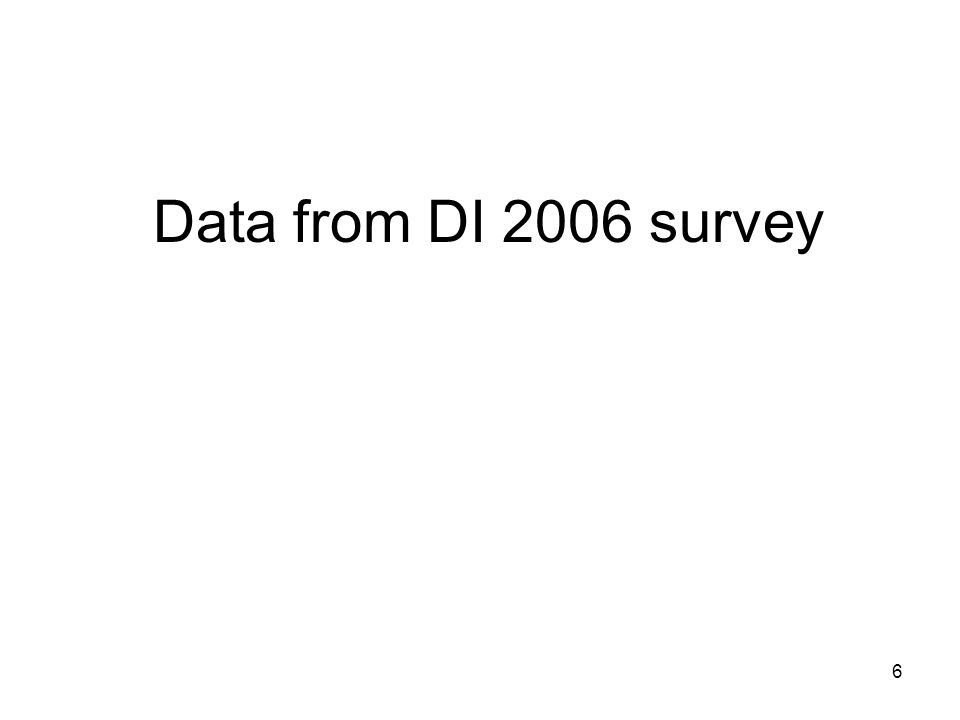 6 Data from DI 2006 survey