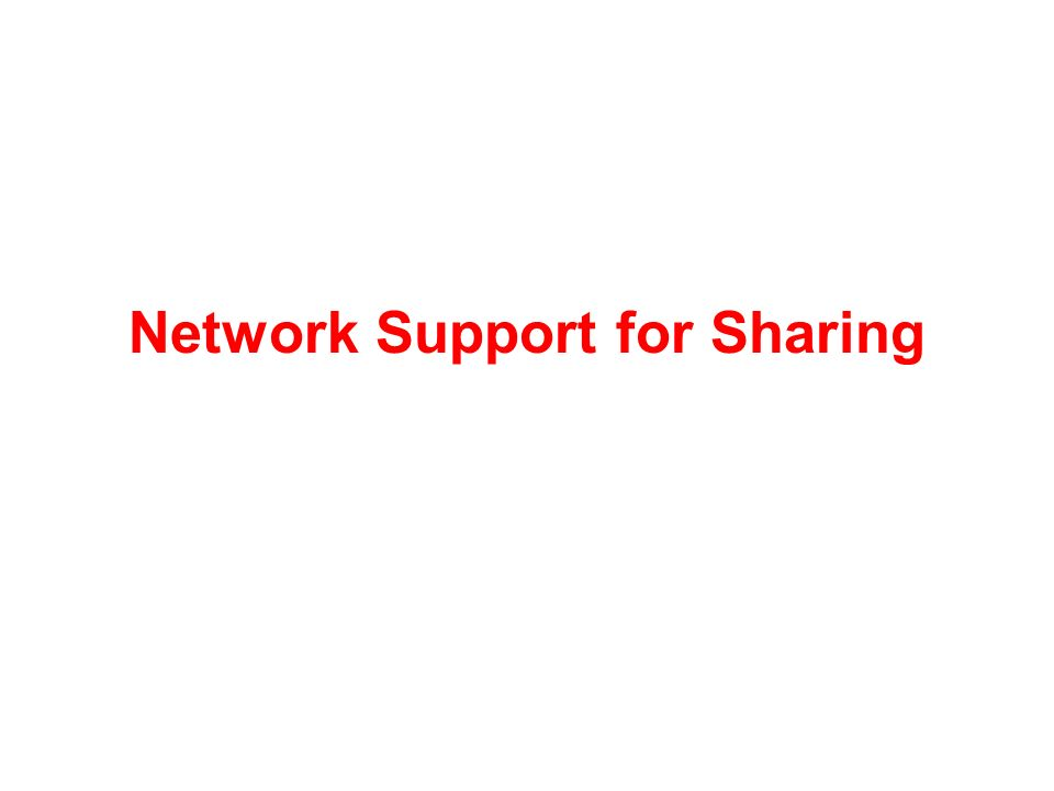 Network Support for Sharing