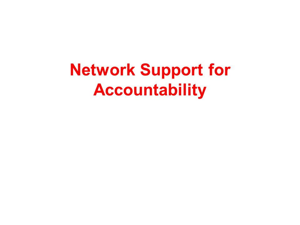 Network Support for Accountability