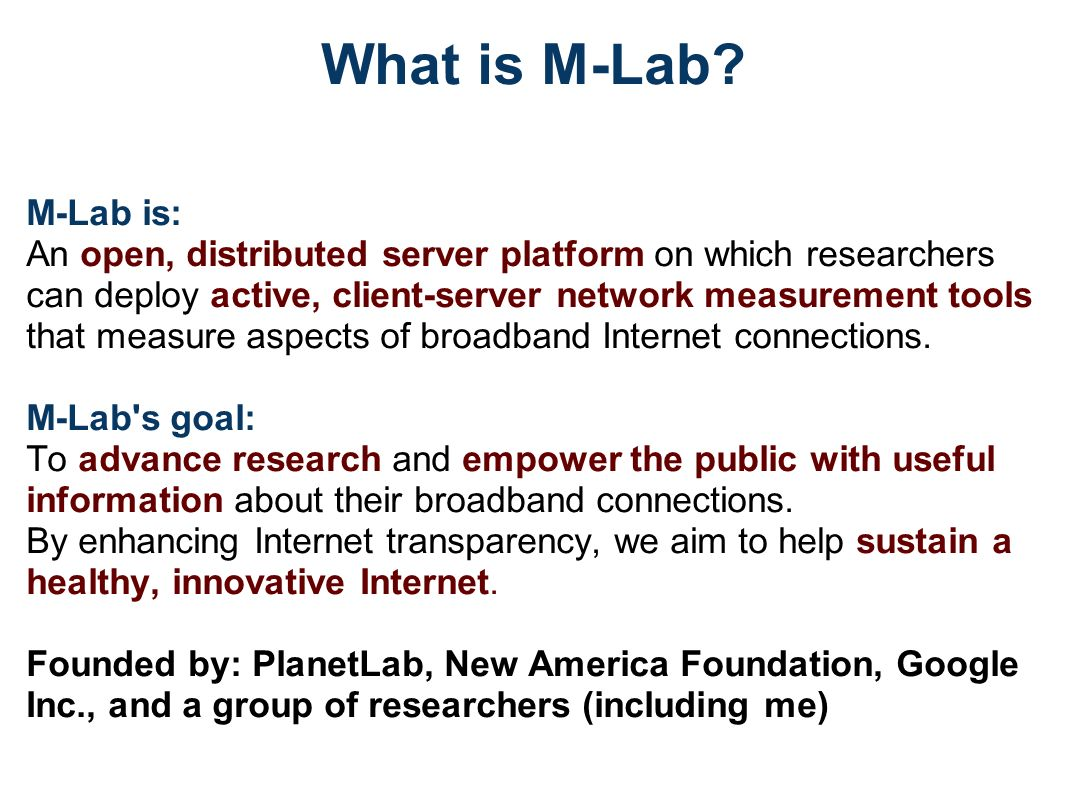 What is M-Lab.