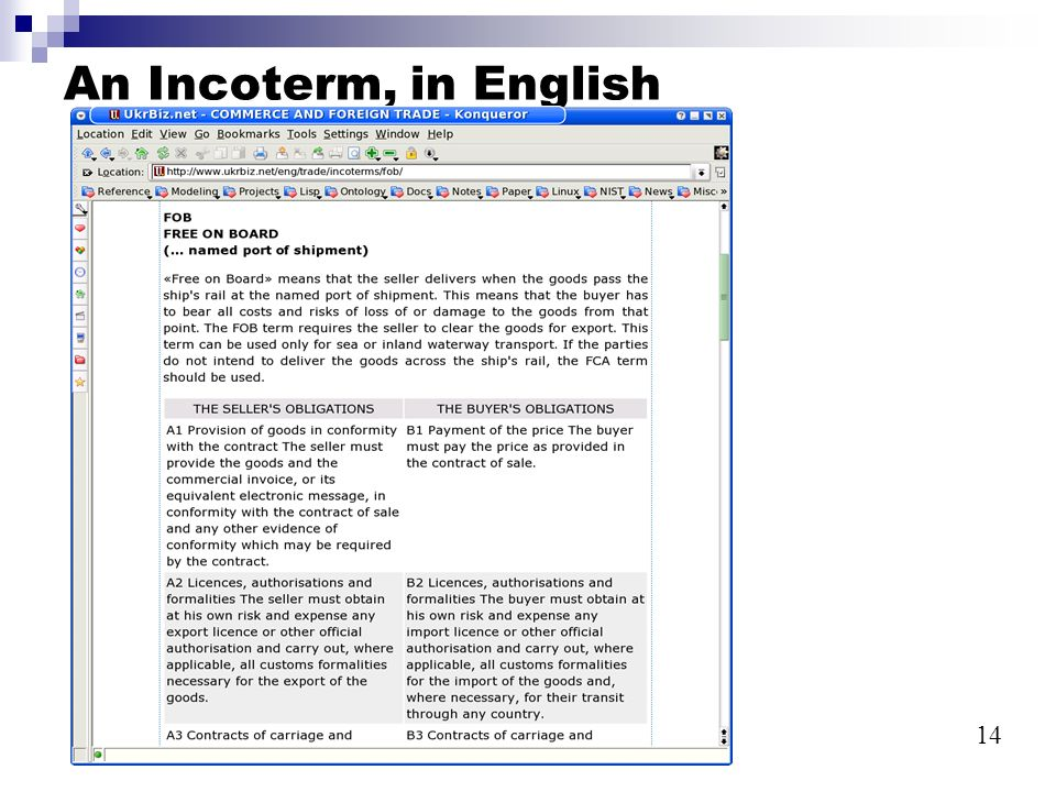 14 UBL Tool2004-11-23 An Incoterm, in English