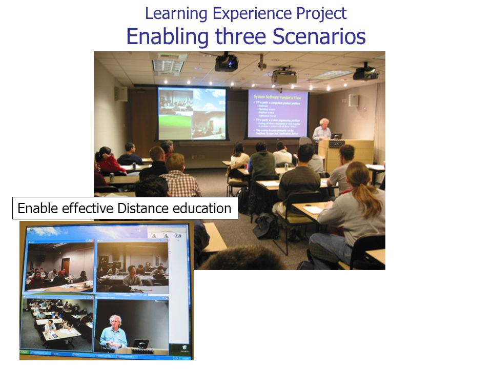 Enable effective Distance education Learning Experience Project Enabling three Scenarios
