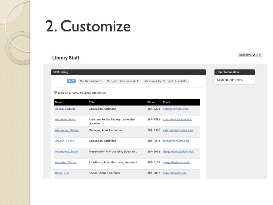 2. Customize