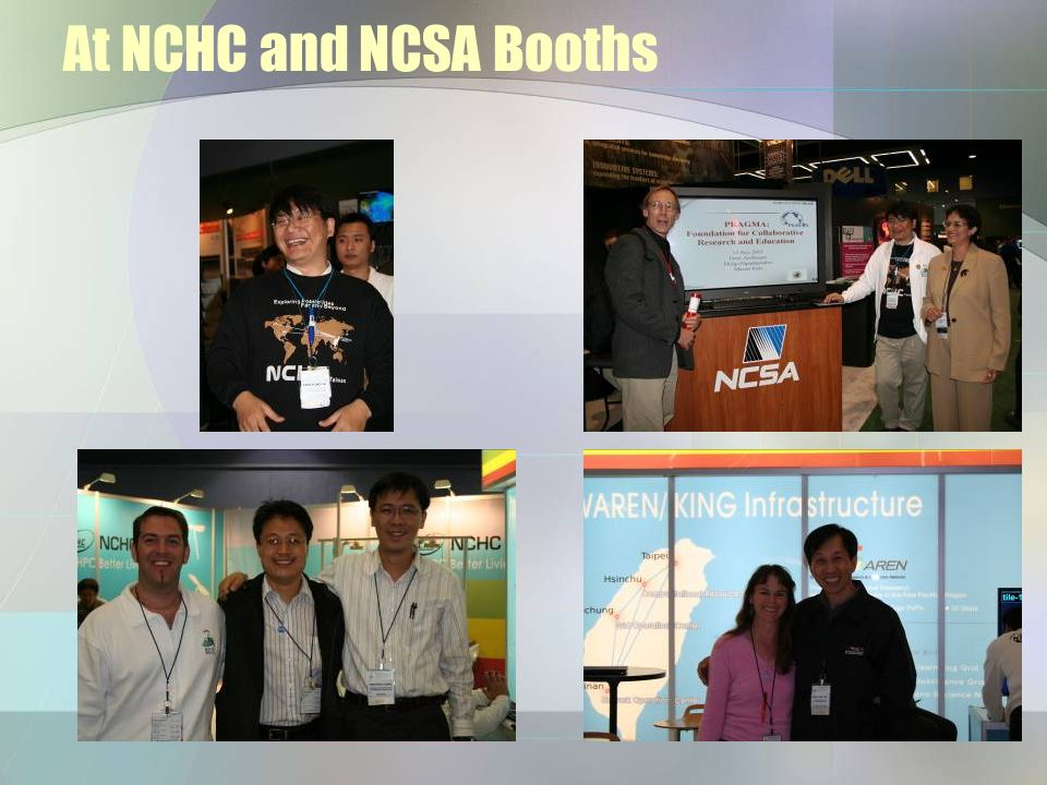 At NCHC and NCSA Booths