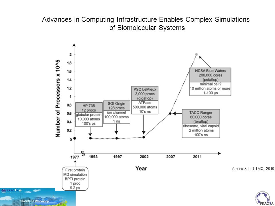 Advances in Computing Infrastructure Enables Complex Simulations of Biomolecular Systems Amaro & Li, CTMC, 2010