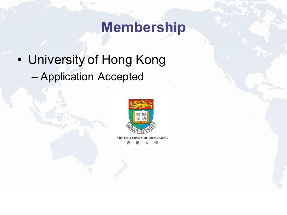 Membership University of Hong Kong –Application Accepted