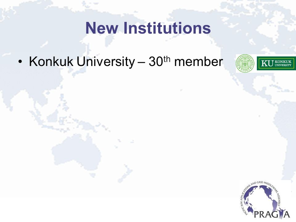 New Institutions Konkuk University – 30 th member