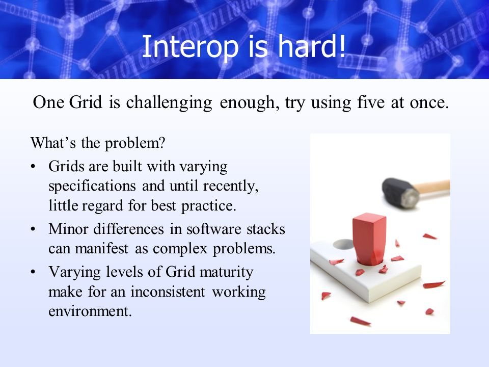 Interop is hard. Whats the problem.