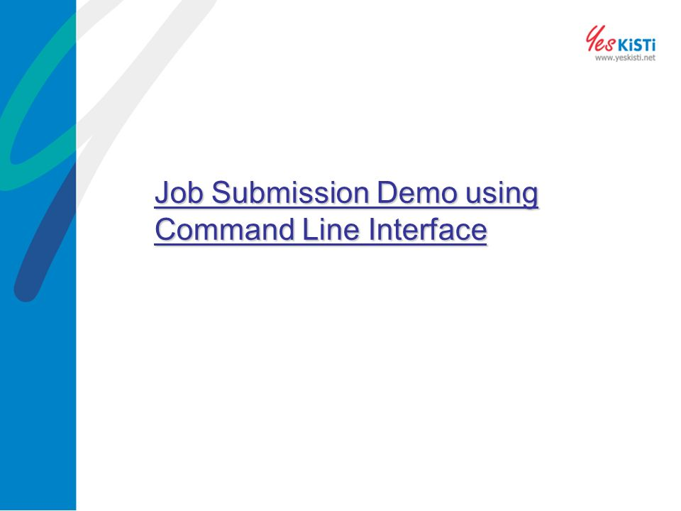 Job Submission Demo using Command Line Interface