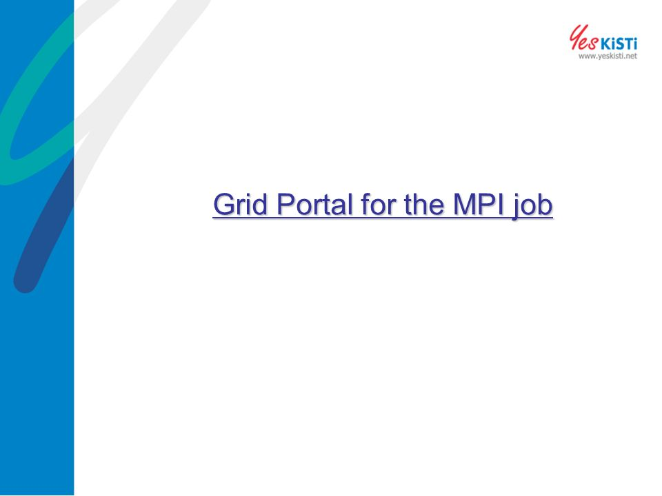 Grid Portal for the MPI job