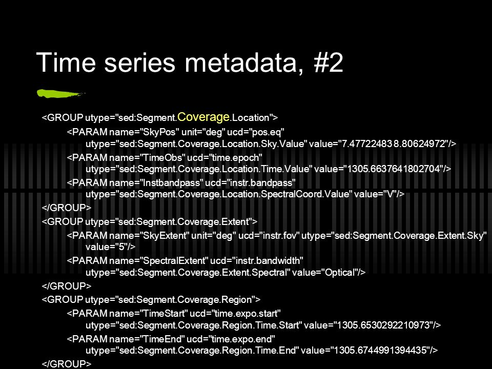 Time series metadata, #2