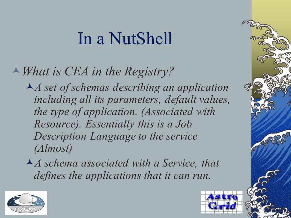 In a NutShell What is CEA in the Registry.