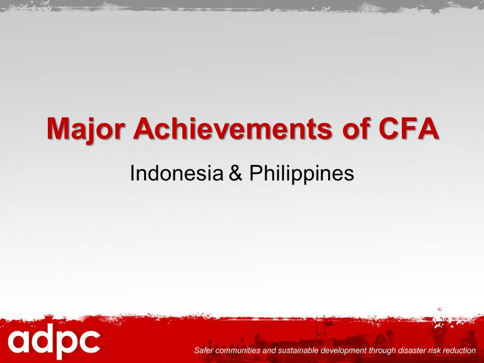 Major Achievements of CFA Indonesia & Philippines