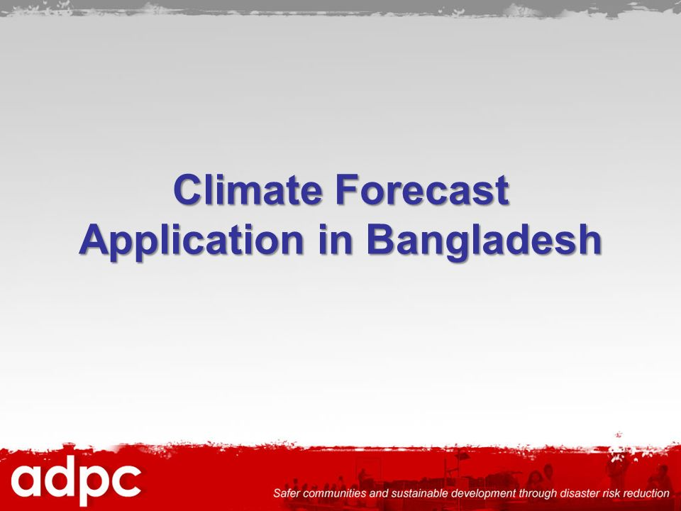 Climate Forecast Application in Bangladesh