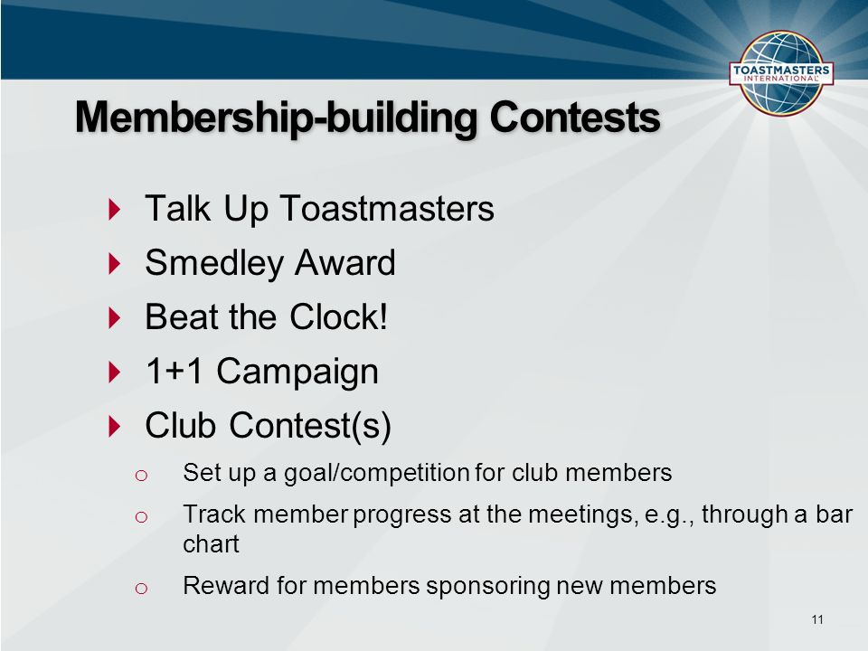 Talk Up Toastmasters Smedley Award Beat the Clock.