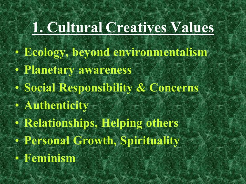 ValueGraphics A Subculture has different: Values = Most important life priorities Worldview = How Life works.