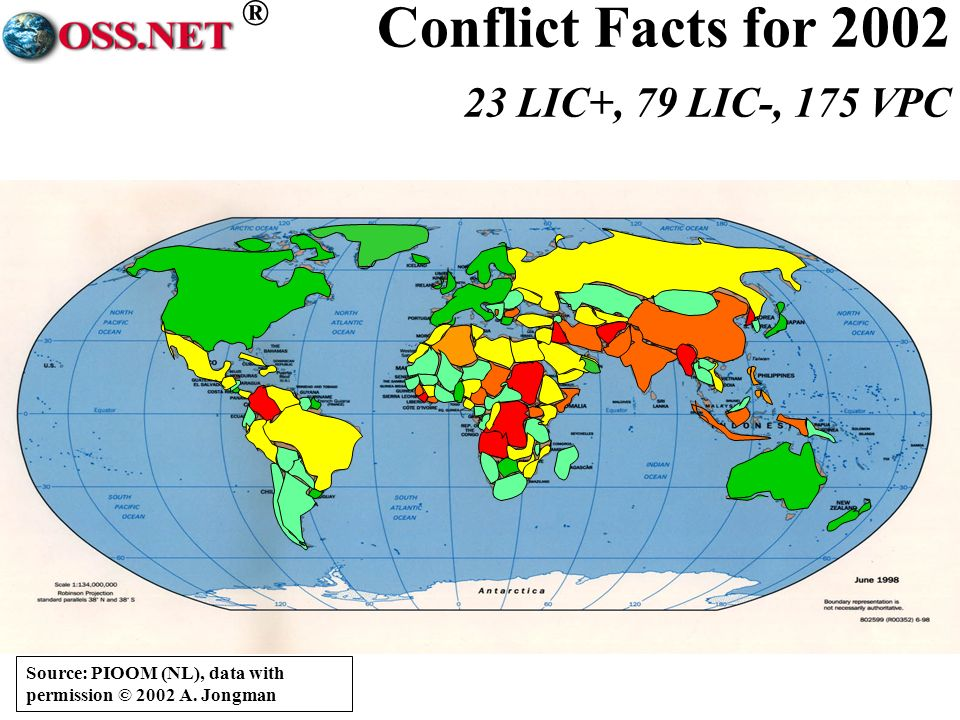 ® Conflict Facts for 2002 23 LIC+, 79 LIC-, 175 VPC Source: PIOOM (NL), data with permission © 2002 A.