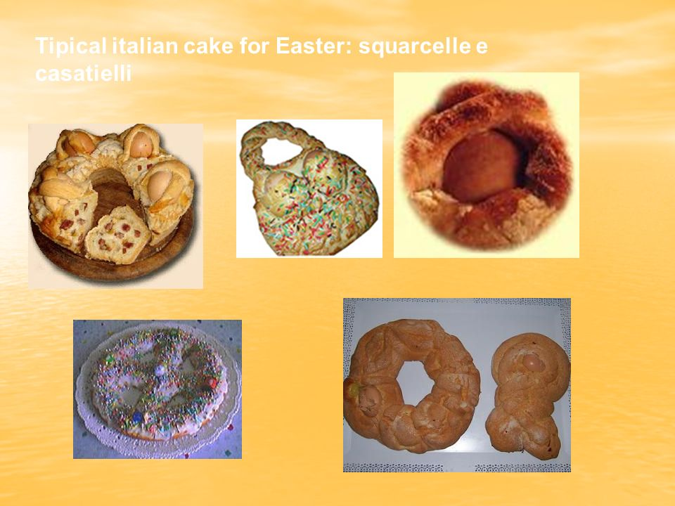 Tipical italian cake for Easter: squarcelle e casatielli