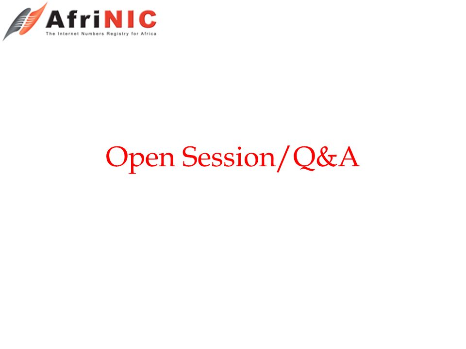 Open Session/Q&A
