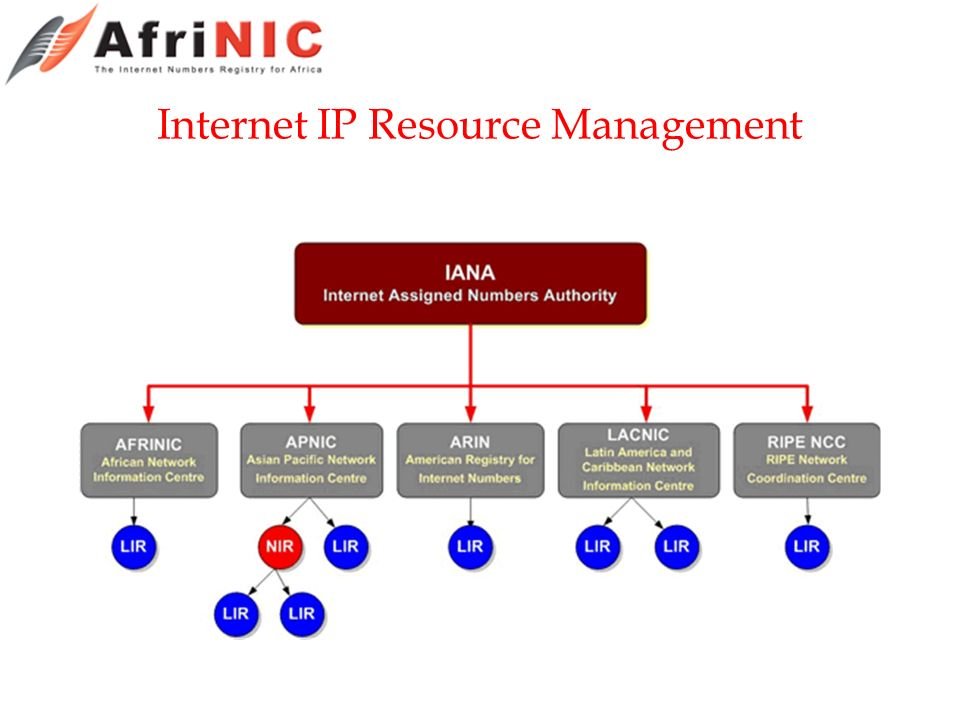 Internet IP Resource Management