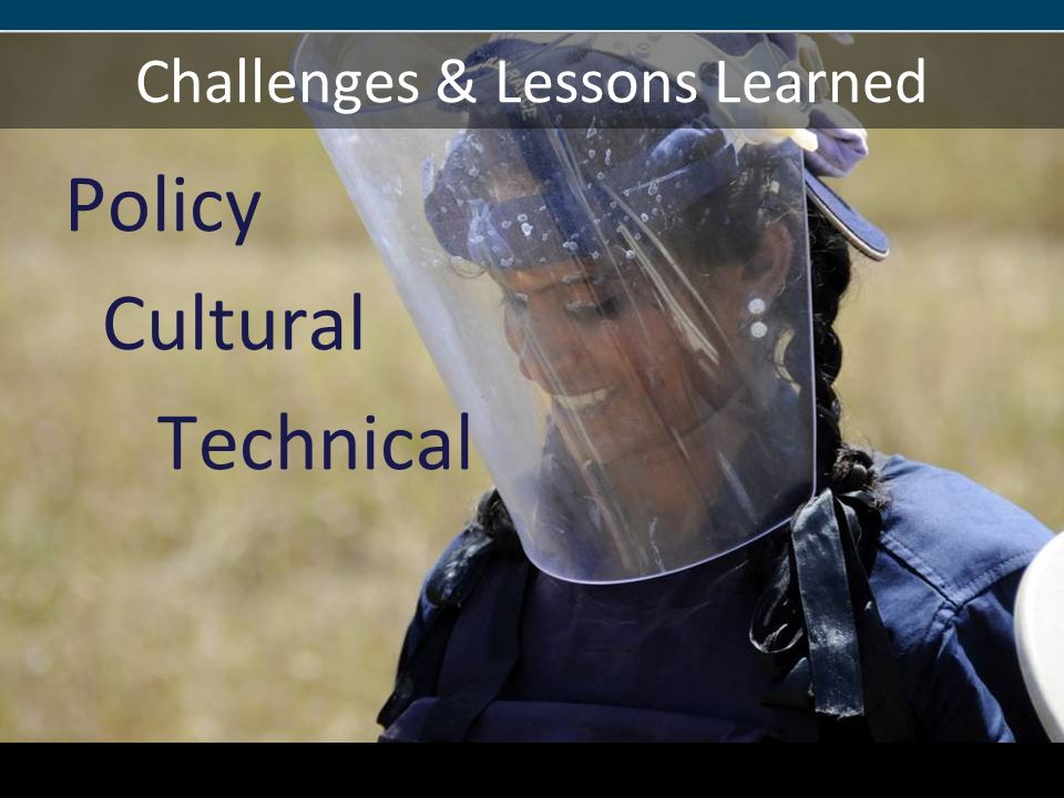 Challenges & Lessons Learned Policy Cultural Technical