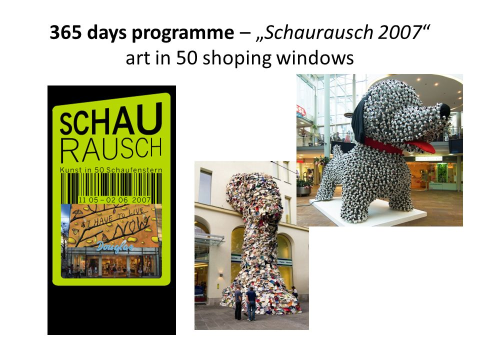 365 days programme – Schaurausch 2007 art in 50 shoping windows