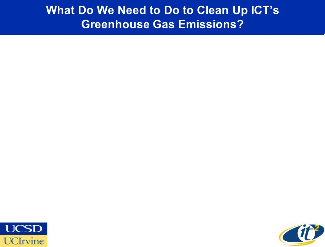 What Do We Need to Do to Clean Up ICTs Greenhouse Gas Emissions