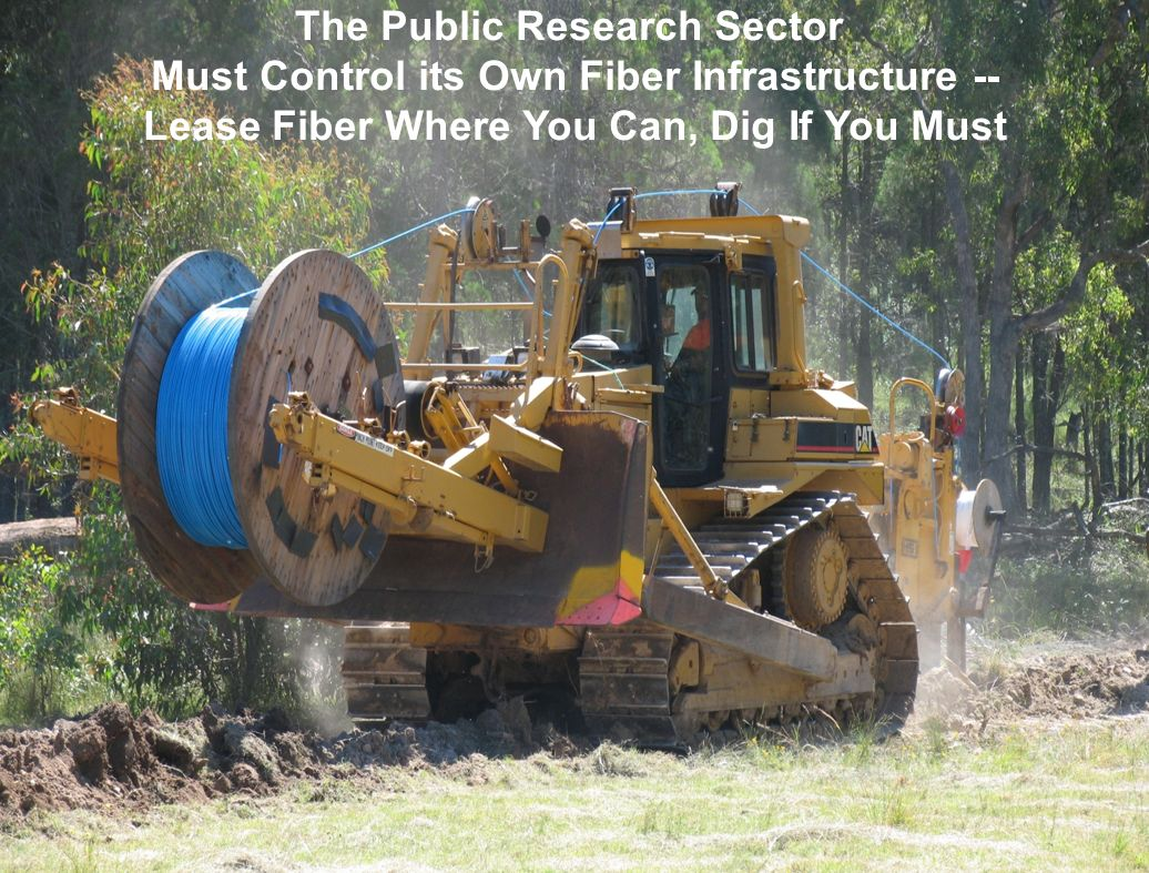 55 The Public Research Sector Must Control its Own Fiber Infrastructure -- Lease Fiber Where You Can, Dig If You Must Source: Chris Hancock, AARNet