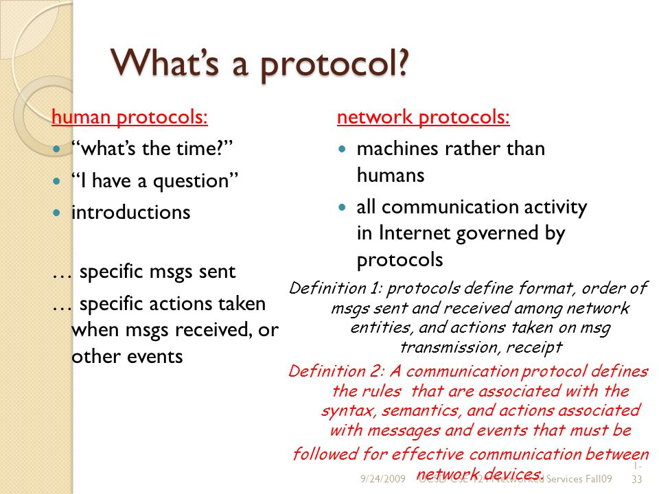 1- 33 Whats a protocol. human protocols: whats the time.