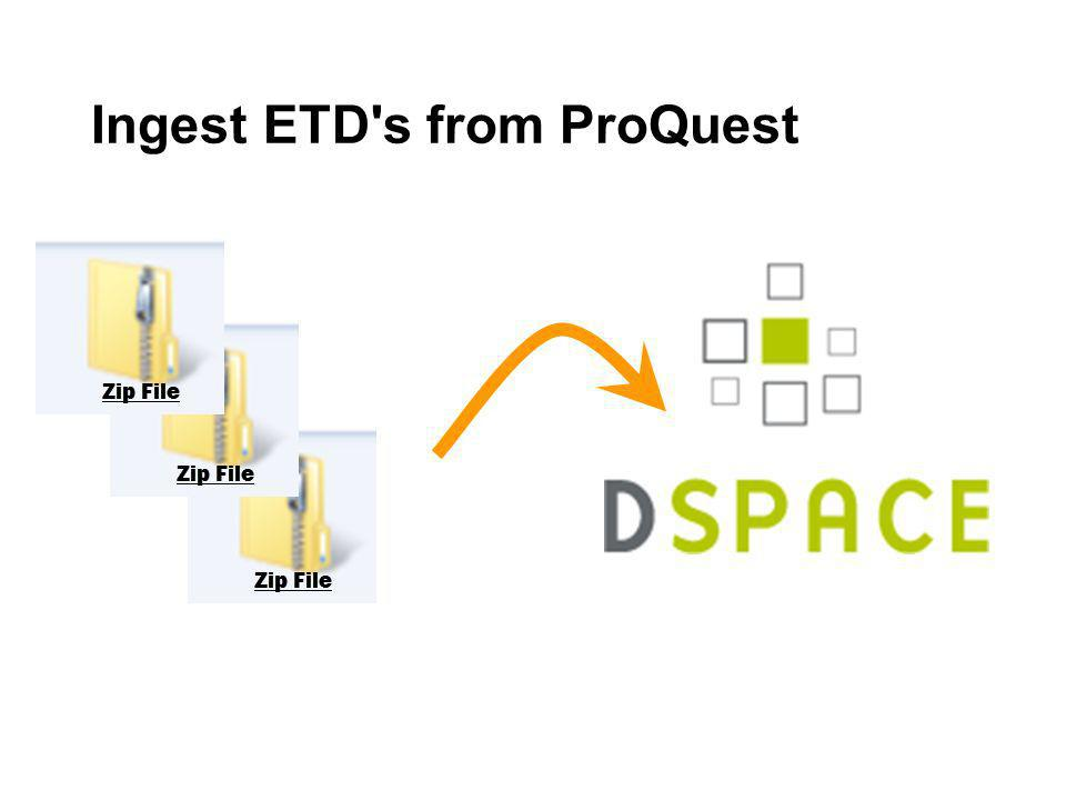 Ingest ETD s from ProQuest
