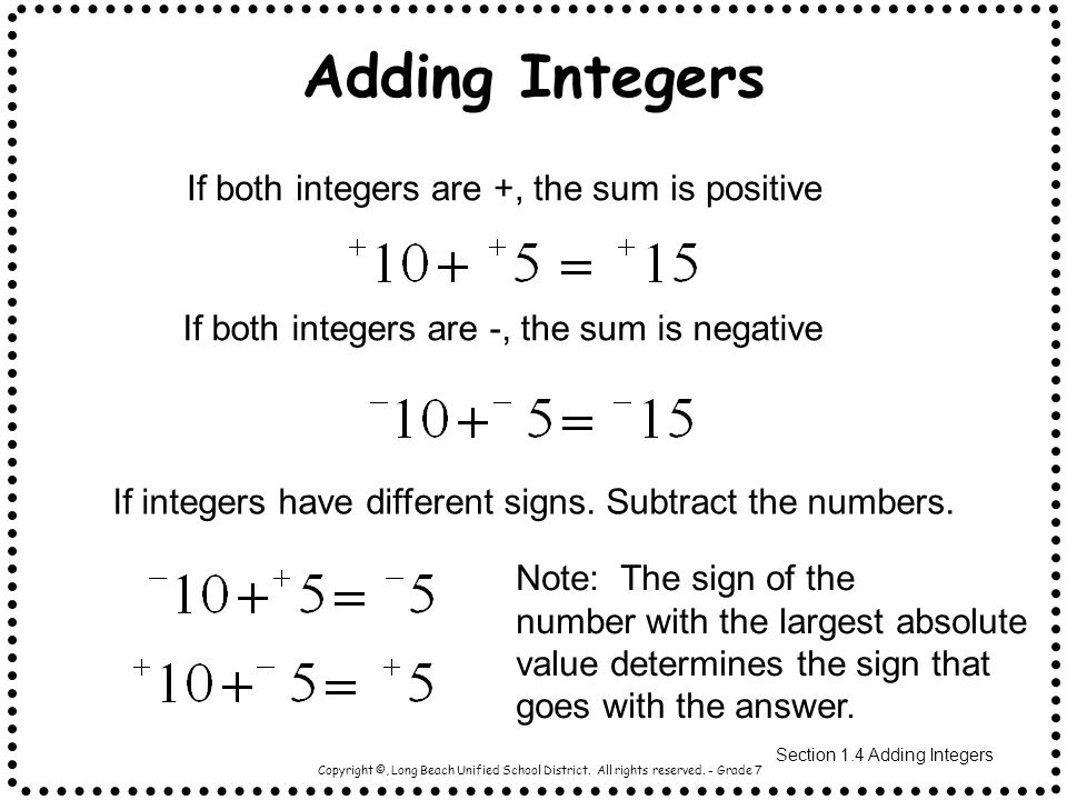 Adding And Subtracting Integers Worksheet Grade 7 & adding and ...