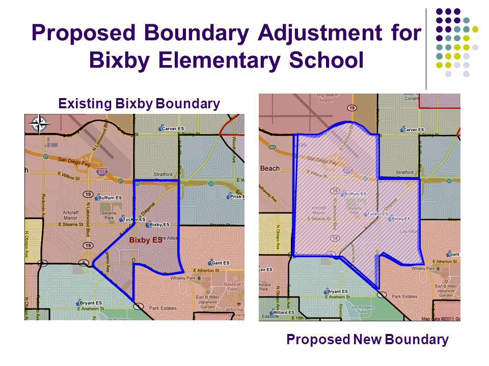 Proposed Boundary Adjustment for Bixby Elementary School Existing Bixby Boundary Proposed New Boundary