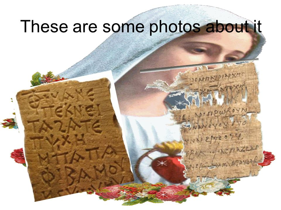 Now we will show you some photos about the Coptic language