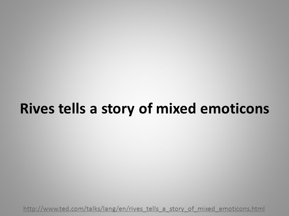 Rives tells a story of mixed emoticons http://www.ted.com/talks/lang/en/rives_tells_a_story_of_mixed_emoticons.html