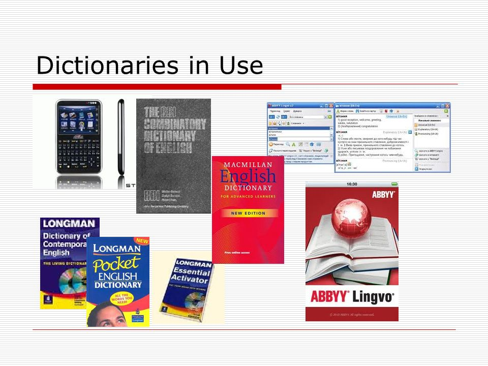 Dictionaries in Use