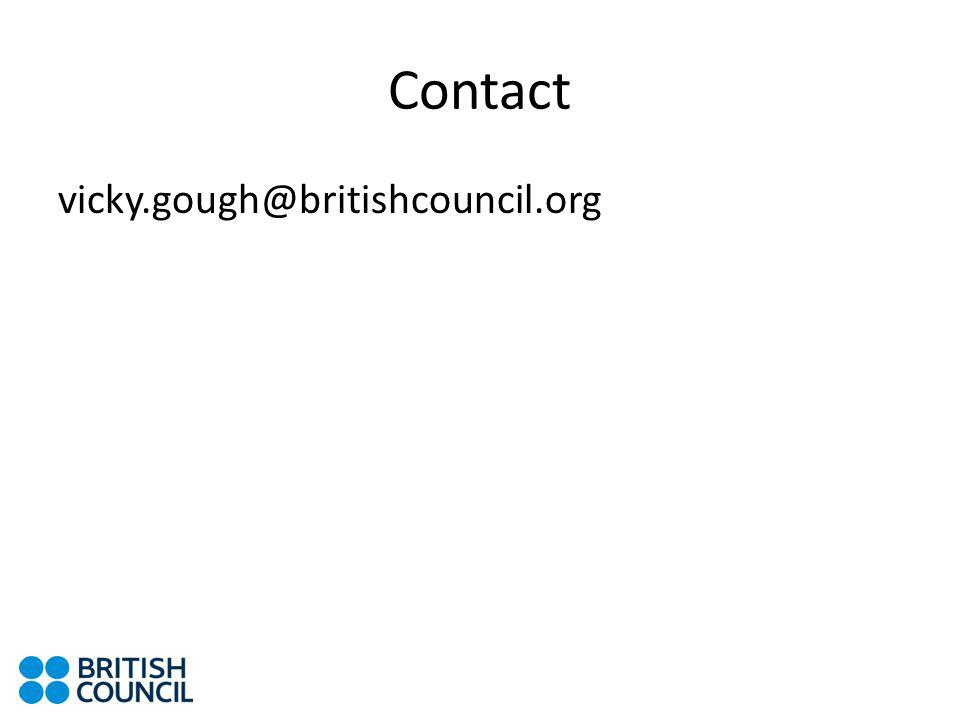 Contact vicky.gough@britishcouncil.org