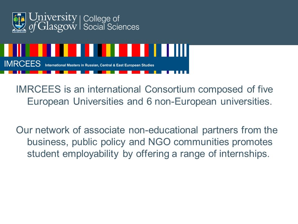 IMRCEES is an international Consortium composed of five European Universities and 6 non-European universities.