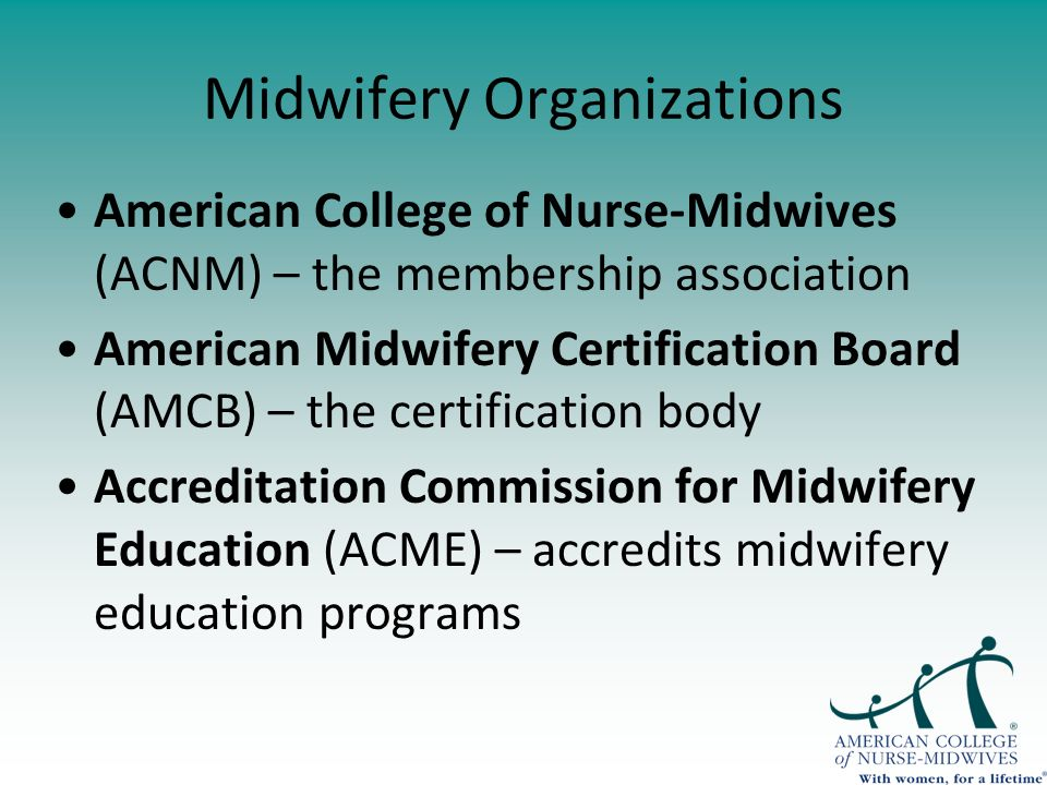 Moving Forward Response Of The American College Of Nurse Midwives