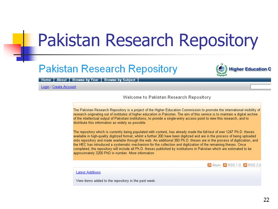 22 Pakistan Research Repository