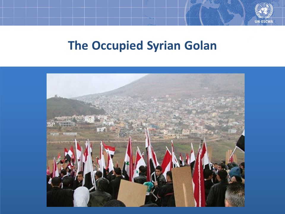 The Occupied Syrian Golan
