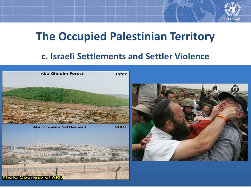 The Occupied Palestinian Territory c. Israeli Settlements and Settler Violence